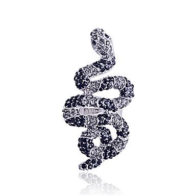 lureme®snake formad legering zirkon ring