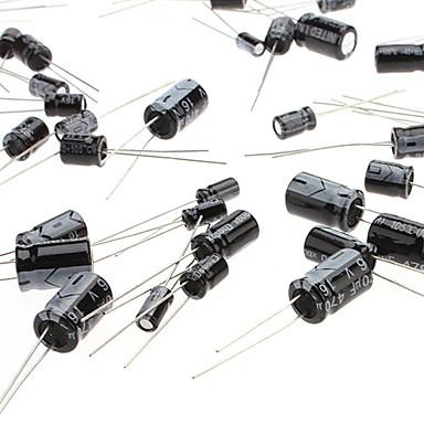 120pcs 1uF-470uF 12 Values Electrolytic Capacitors Bag