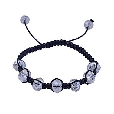 Lureme®Transparent Acrylic Beads Braided Rope Adjustable Bracelet(Assorted Colors)
