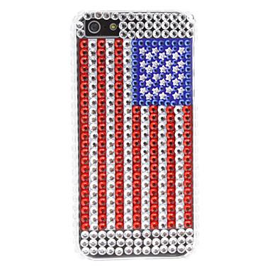 strass cas de modèle de drapeau usa de style dur pour l'iphone 5/5s