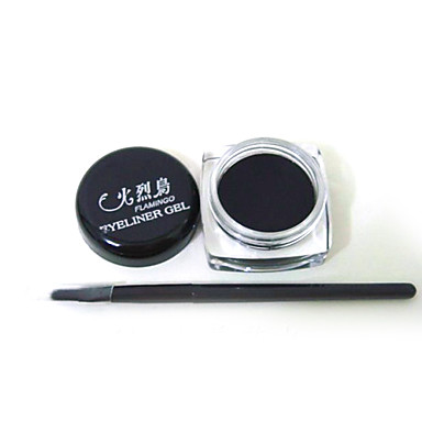 Musta Vedenpitävä Eye Liner silmänrajauskynä Gel meikki harja