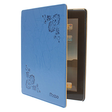 Flower Pattern PU Leather Case with Stand for iPad 2/3/4
