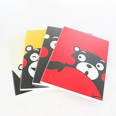 Happy Bear Rubber Cover Notebook(Random Color)