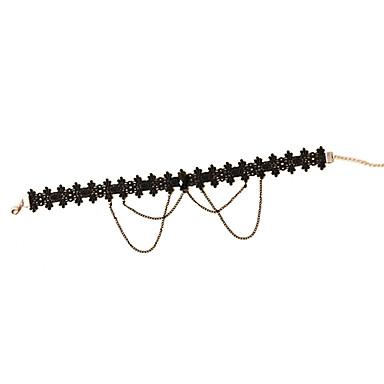 European Style Resin Black Short Lace Necklace