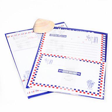Paris Town Style Stationery & Envelopes Set (Random Color)