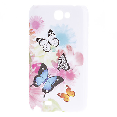 Butterfly Pattern Hard Case for Samsung Galaxy Note 2 N7100