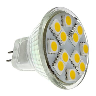 2 W Spoturi LED 160 lm GU4(MR11) MR11 12 LED-uri de margele SMD 5050 Alb Cald 12 V