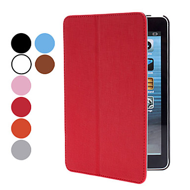 pu läderfodral w / stå och handtag för iPad mini 3, iPad Mini 2, iPad Mini (blandade färger)