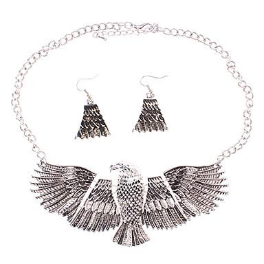 Eagle Alloy Earring Necklace Set