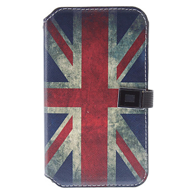Retro Style The Union Jack Pattern Leather Case with Stand and Card Slot for Samsung Galaxy Note2 N7100