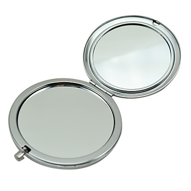 Diamante rotondo potabile Comestic Two Side Makeup Compact causa Specchio