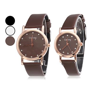 Coppia di orologi analogici PU Coppia di quarzo (colori assortiti)