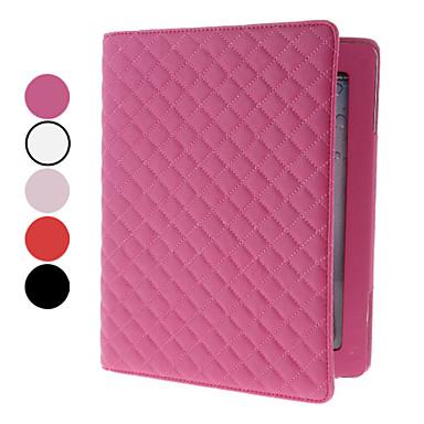 Etui Til iPad 4/3/2 Med stativ Fuldt etui Geometrisk mønster PU Læder for iPad 4/3/2