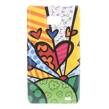 Cas mignon Heart Pattern dur pour Samsung Galaxy S2 I9100