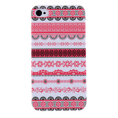 Flower Stripe Pattern Protective Hard Case for iPhone 4/4S iPhone Cases