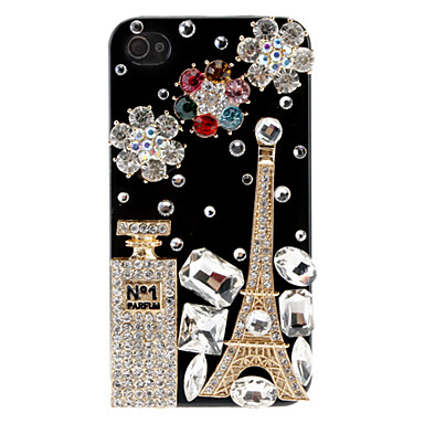 Tower Crystal-Studded Black Case for iPhone 4/4S
