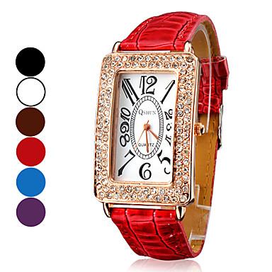 Analógico Quartz PU relógio de pulso da Mulher (cores sortidas)