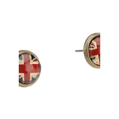Stud Earrings Acrylic Alloy British Flag The Union Jack Jewelry Daily