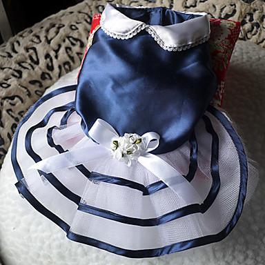 Blumige bowknot Stil Plissee Mesh-Spleißen Kleider für Hunde (Farbe sortiert, XS-L)