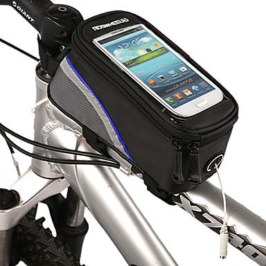 Borsa da bici Marsupio triangolare da telaio bici Ompermeabile Strisce riflettenti Marsupio da bici Poliestere PVC Borsa da bici Ciclismo