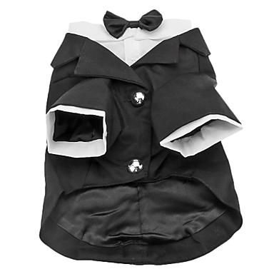 Perro Disfraces Esmoquin Ropa para Perro Un Color Algodón Disfraz Para mascotas Hombre Cumpleaños Cosplay Boda