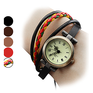 Women's Quartz Bracelet Watch Japanese Genuine Leather Band Bohemian / Fashion Black / Brown