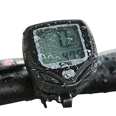 Sunding mühendislik plastik kablosuz 15 fonksiyon su geçirmez bisiklet bilgisayarı 548c2 (siyah)
