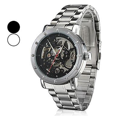 Pulso estilo analógico mecânico relógio de aço resistente à água dos homens (cores sortidas)