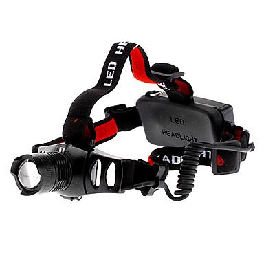 Otsalamput Ajovalo LED 200 lm 3 Tila Cree XR-E Q5 Zoomable Säädettävä fokus Ladattava Taktinen Telttailu/Retkely/Luolailu