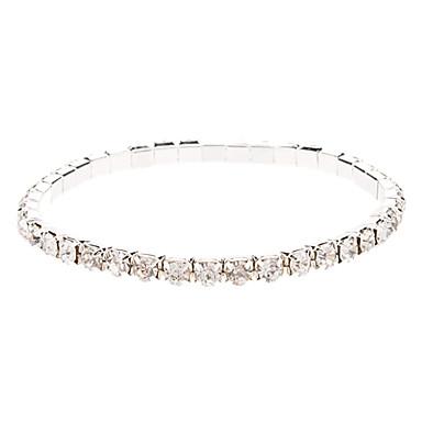 Kadın's Zincir & Halka Bileklikler Yapay Elmas alaşım Mücevher Yılbaşı Hediyeleri Düğün Kostüm takısı