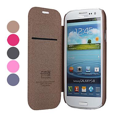 Estilo elegante estojo de couro de proteção PU com suporte e slot para cartão para Samsung Galaxy S3 I9300