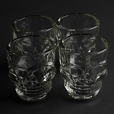 Cool Skull 2.5oz Whiskey Beer Shot Glass (4-Pack)