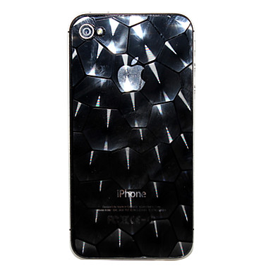 Hexagonal Pattern Front and Back Screen Protector for iPhone 4/4S