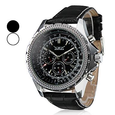 Heren Water Resistant stijl pu analoge mechanisch horloge (verschillende kleuren)