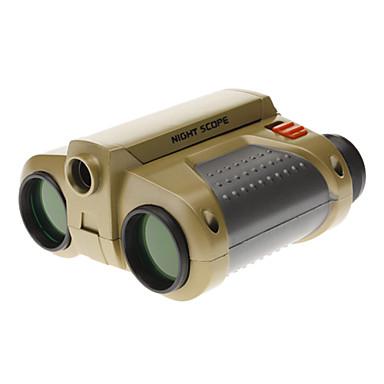 4x30mm notte attenzione portata regolata binocolo con spotlight pop-up e cinturino nick