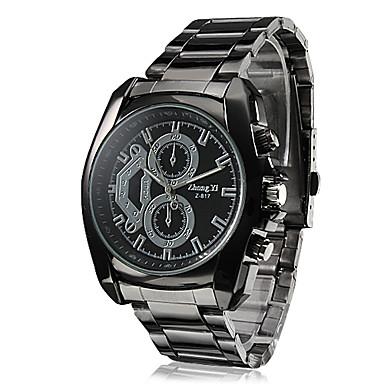 Erkek Bilek Saati Büyük indirim Alaşım Bant İhtişam / Elbise Saat Siyah