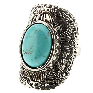 turquesa anel de prata arco geométrico das mulheres