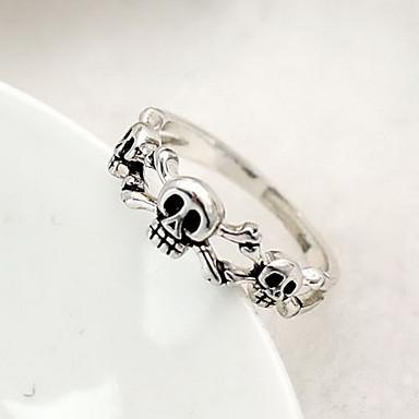 lureme®alloy anillo patrón de cráneo (colores surtidos)