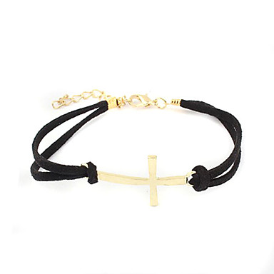 Eruner®Golden Plated Alloy Cross Pattern Fabric Bracelet(Assorted Colors)