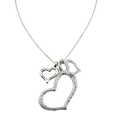 Pendant Necklaces Heart Alloy Love Heart Jewelry For Thank You Daily Valentine