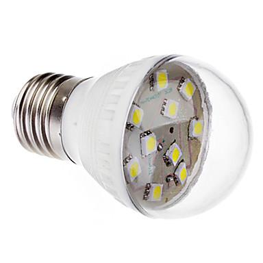 E27 1.0W 7x5050SMD 90-100LM 6000-6500K Cool White Light LED-lamp (220V)
