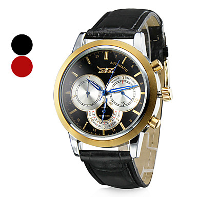 Men's Wrist Style Mechanical PU Analog Water Resistant Watch (Assorted Colors)