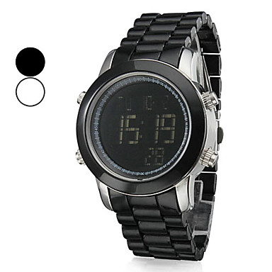 Unisex Calendar Water Resistant Style Digital Plastic Automatic Wrist Watch (Assorted Colors)