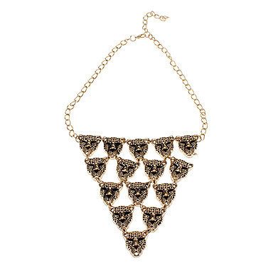 Leopard Head Triangle Alloy Necklace