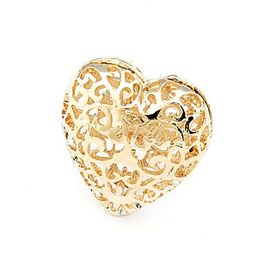 Alloy Hollow-out Heart Heart Pattern Ring (Assorted Colors)