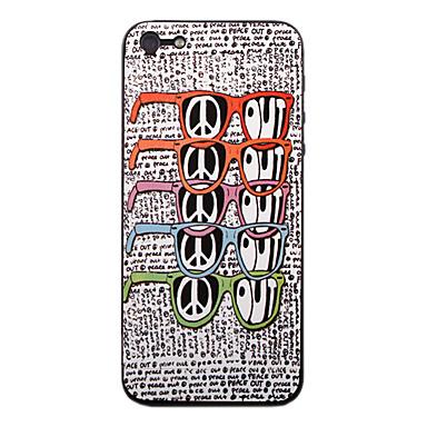 아이폰 5를위한 다채로운 안경 패턴 정면과 뒤 보호자 스티커