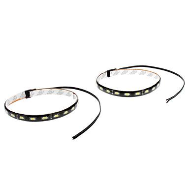 Araba için su geçirmez 30cm 9W 18x5730SMD Beyaz LED Şerit Işık (12V, 1-Pair)