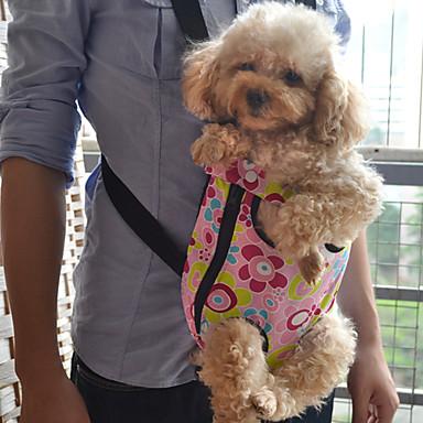 Colorful Flower Pattern frontal Mochila bolsa de transporte de mascotas para perros (S-XL)