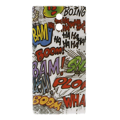 Scrawling Pattern Hard Case for Sony Xperia P LT22i