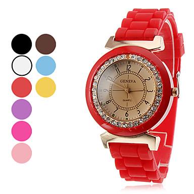 Femmes et analogique silicone Montre-bracelet à quartz pour les enfants (couleurs assorties)